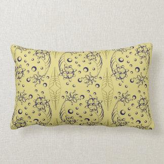Almofada Lombar Design elegante dos Seashells do marinho & do