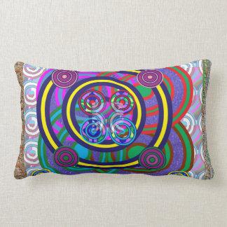 Almofada Lombar Design redondo do círculo do jogo das meninas da