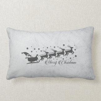 Almofada Lombar Design reversível cinzento do Natal