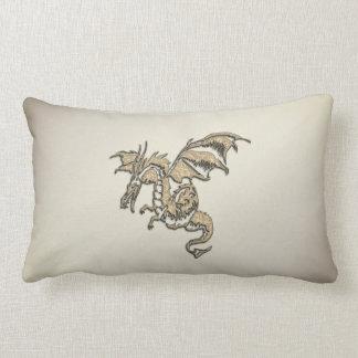 Almofada Lombar Dragão dourado
