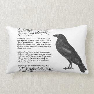 """Almofada Lombar Edgar Allan Poe """"travesseiro decorativo do corvo"""""""