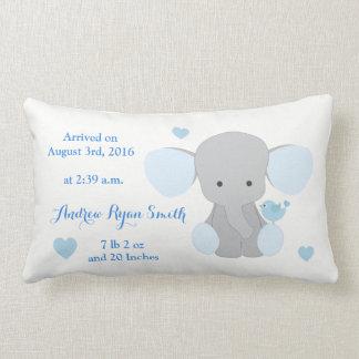 Almofada Lombar Elefante Chevron das cinzas azuis do Stats do