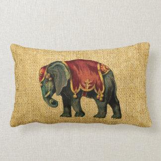 Almofada Lombar Elefante e urso do circo do vintage
