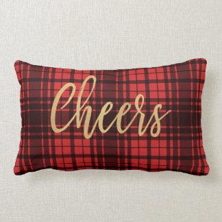 Almofada Lombar Elogios vermelhos da xadrez do feriado