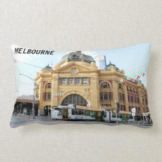 Almofada Lombar Estação Melbourne Austrália da rua do Flinders