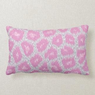 Almofada Lombar Estilo do leopardo de neve - rosa de prata