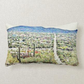 Almofada Lombar Estrada ao travesseiro do algodão da pintura a