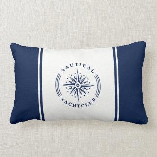 Almofada Lombar Estrela, crachá do compasso, marinho e branco