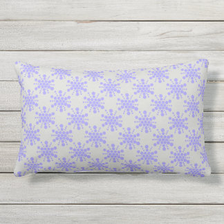 Almofada Lombar Estrelas pontilhadas azul no cinza do seixo