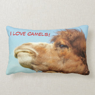 Almofada Lombar Eu amo camelos - travesseiro