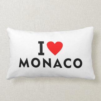 Almofada Lombar Eu amo o país de Monaco como o turismo do viagem