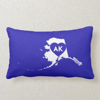 Almofada Lombar Eu amo o travesseiro lombar do estado de Alaska