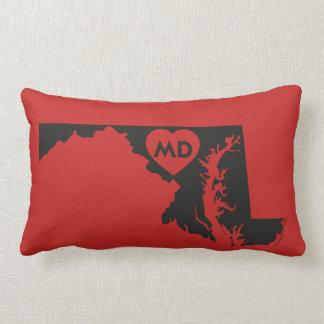 Almofada Lombar Eu amo o travesseiro lombar do estado de Maryland