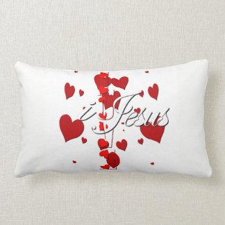 Almofada Lombar eu amo o travesseiro lombar dos corações de Jesus