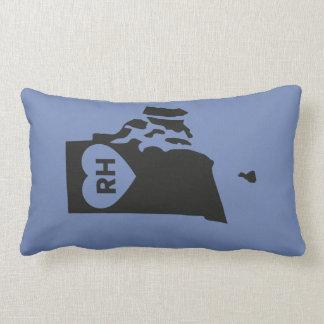Almofada Lombar Eu amo Rhode - travesseiro lombar do estado de