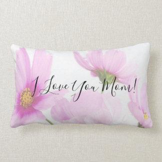 Almofada Lombar Eu te amo tipografia do roteiro da mamã em floral