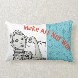 Almofada Lombar Faça o travesseiro da guerra da arte não