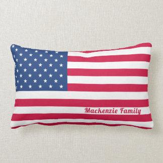 Almofada Lombar Família personalizada | americana da bandeira