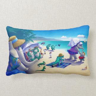 Almofada Lombar Fauna do descanso da praia e colorido!