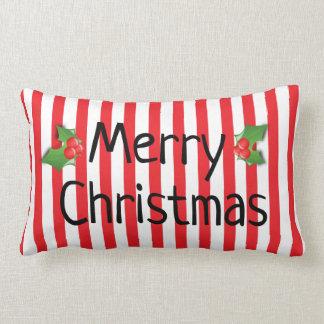 Almofada Lombar Feliz Natal e travesseiros do feliz ano novo