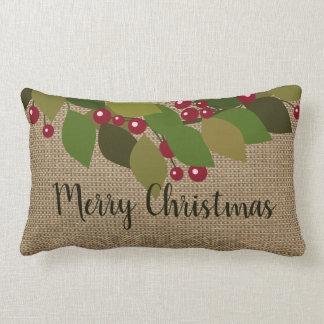 Almofada Lombar Feliz Natal! serapilheira do falso de | rústica
