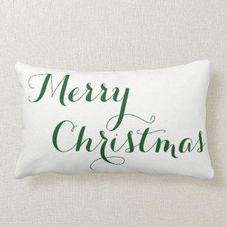 Almofada Lombar Feliz Natal - travesseiro reversível do feliz ano