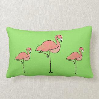 Almofada Lombar Flamingo e Chevron reversíveis