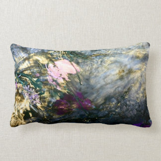 Almofada Lombar Flor abstrata na água