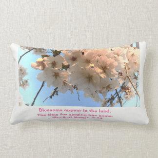 Almofada Lombar Flores de cerejeira e canção do travesseiro das