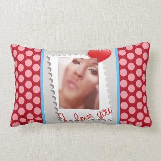 Almofada Lombar Foto personalizada bolinhas do dia dos namorados