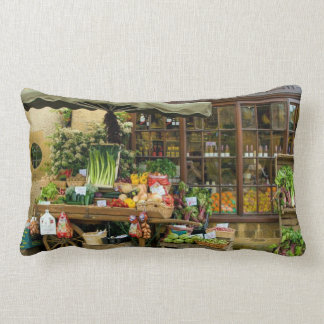 Almofada Lombar Fruta e loja inglesa colorida da vila de Veg