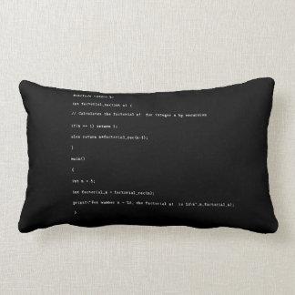 Almofada Lombar Função recursivo no fundo preto