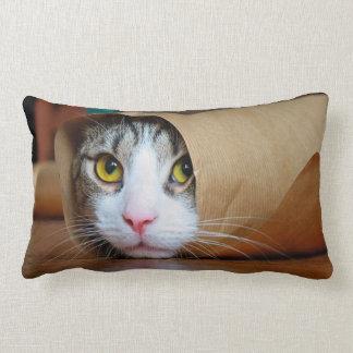 Almofada Lombar Gato de papel - gatos engraçados - meme do gato -