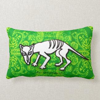 Almofada Lombar Gato de Scaredy na cópia verde do bandana