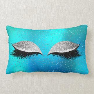 Almofada Lombar Gato Glam do oceano da composição do preto do