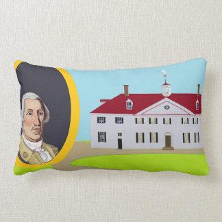 Almofada Lombar George Washington e Mt Vernon