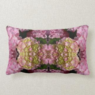 Almofada Lombar Hydrangeas cor-de-rosa e de creme