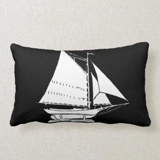 Almofada Lombar impressão da silhueta do veleiro