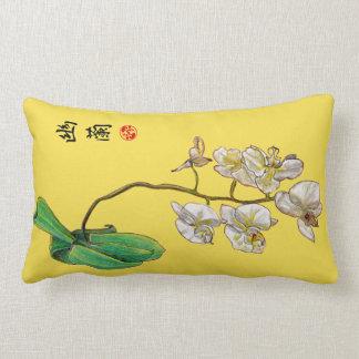 Almofada Lombar Impressão elegante tirado mão da orquídea