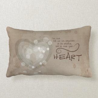 Almofada Lombar Incentivo religioso do coração, Grunge
