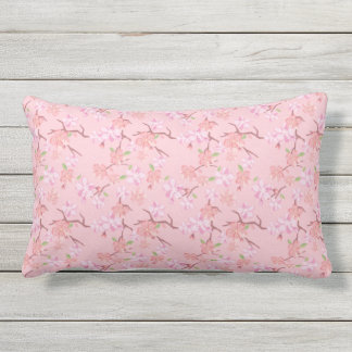 Almofada Lombar Japão. Flores florais da flor de cerejeira