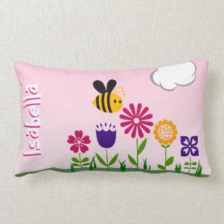 Almofada Lombar Jardim feliz da abelha personalizado