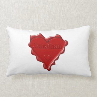 Almofada Lombar Jonathan. Selo vermelho da cera do coração com