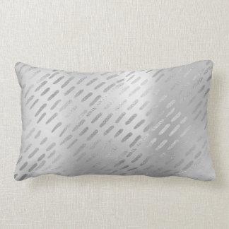 Almofada Lombar Linhas metálicas travesseiro do aço das cinzas de