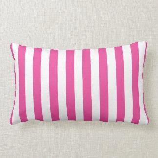 Almofada Lombar Listras verticais cor-de-rosa
