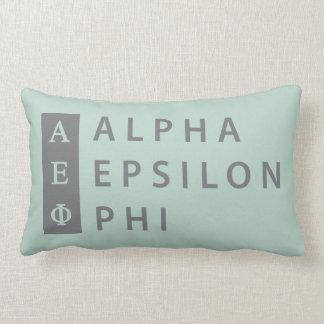 Almofada Lombar Logotipo empilhado   alfa da phi do épsilon
