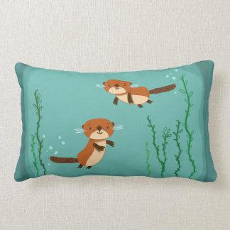 Almofada Lombar Lontras que nadam