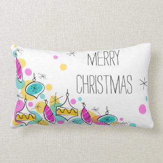Almofada Lombar Lumbar de canto do Natal dos Baubles retros da