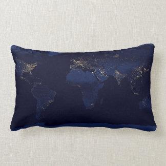 Almofada Lombar Luzes da terra no travesseiro decorativo da noite