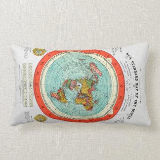 Almofada Lombar Mapa padrão novo da terra lisa Earther do mundo